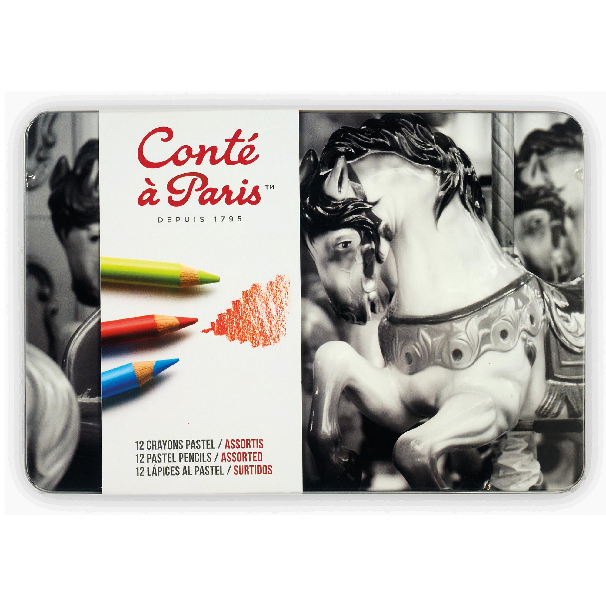 CAJA LÁPIZ PASTEL X12 CONTÉ À PARIS