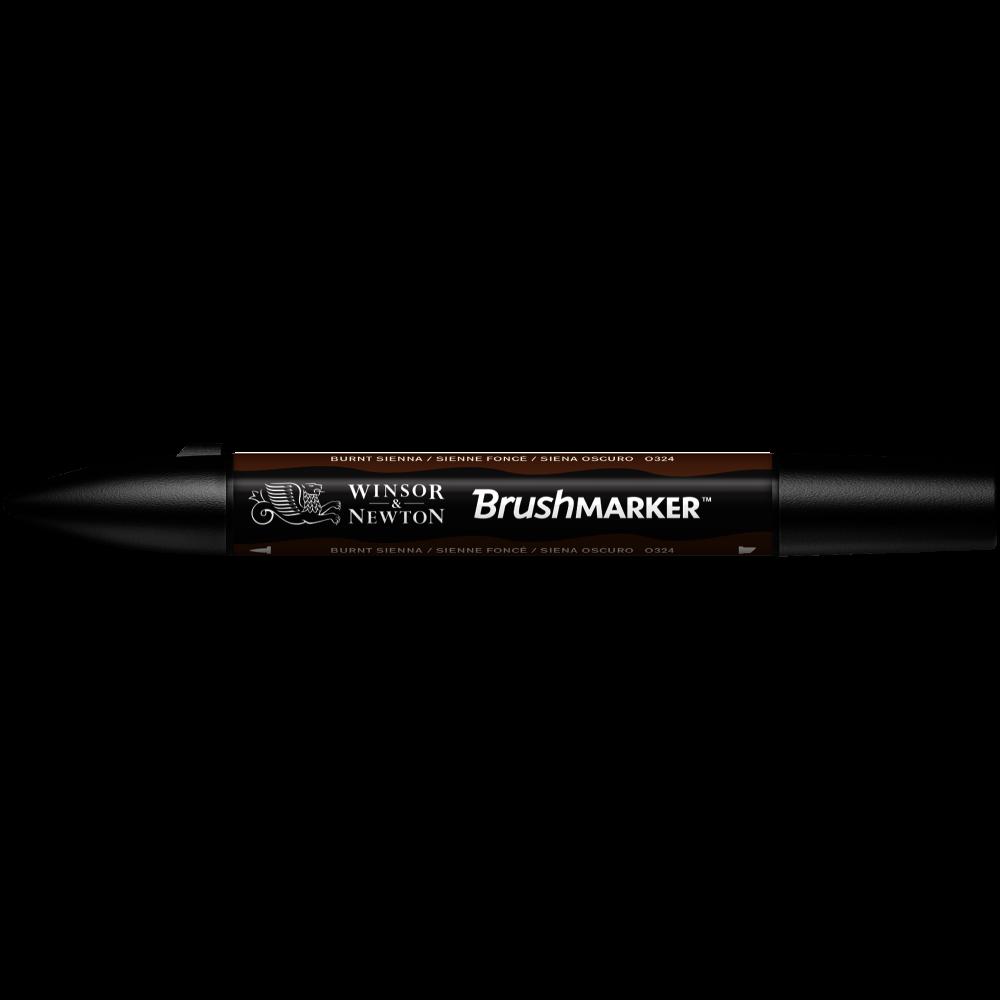 MARCADOR BRUSHMARKER W&N SIENA OSCURO O324