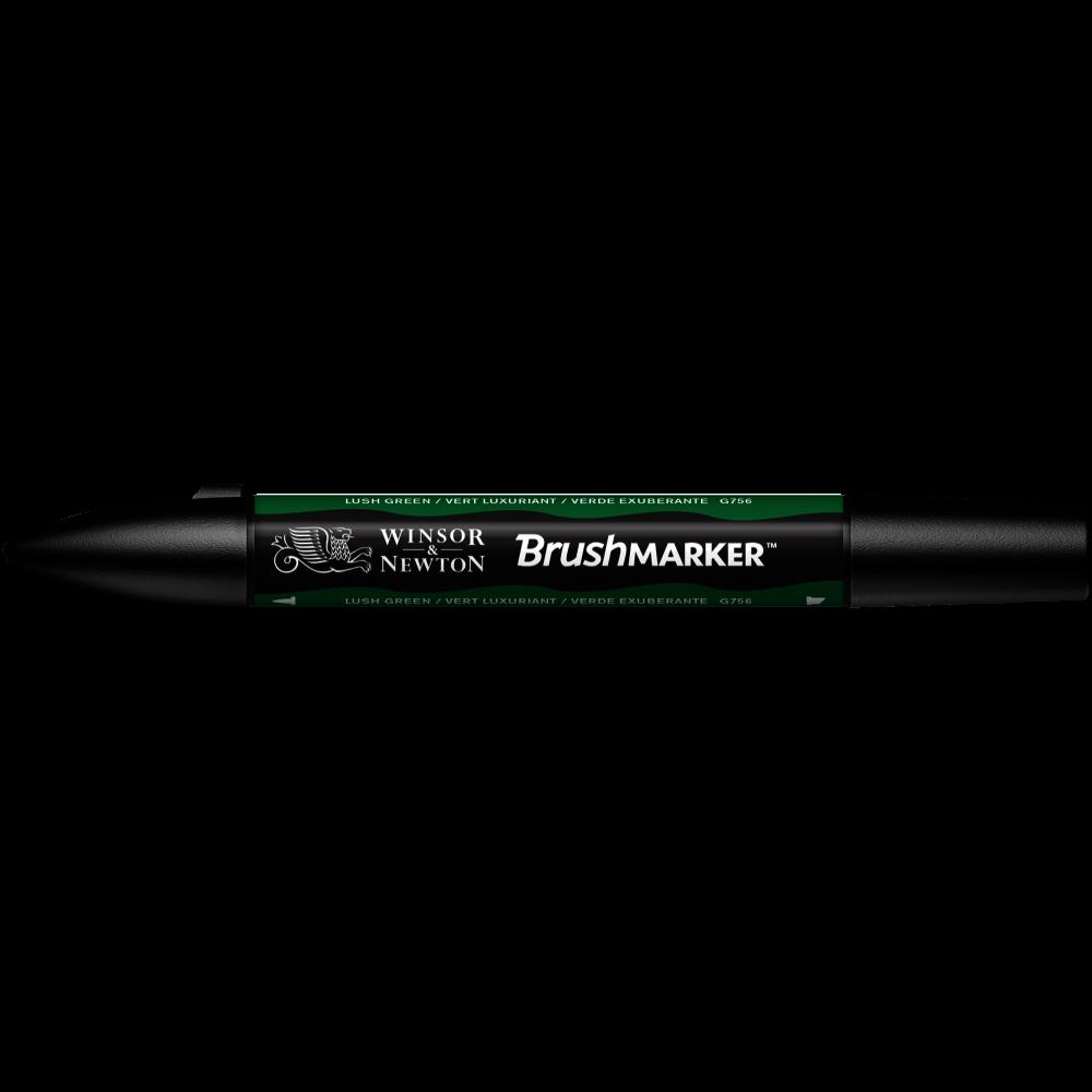 MARCADOR BRUSHMARKER W&N VERDE EXUBERANT G756