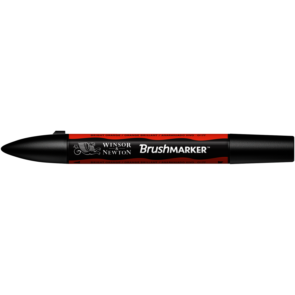 MARCADOR BRUSHMARKER W&N ANARANJADO VIVO O177