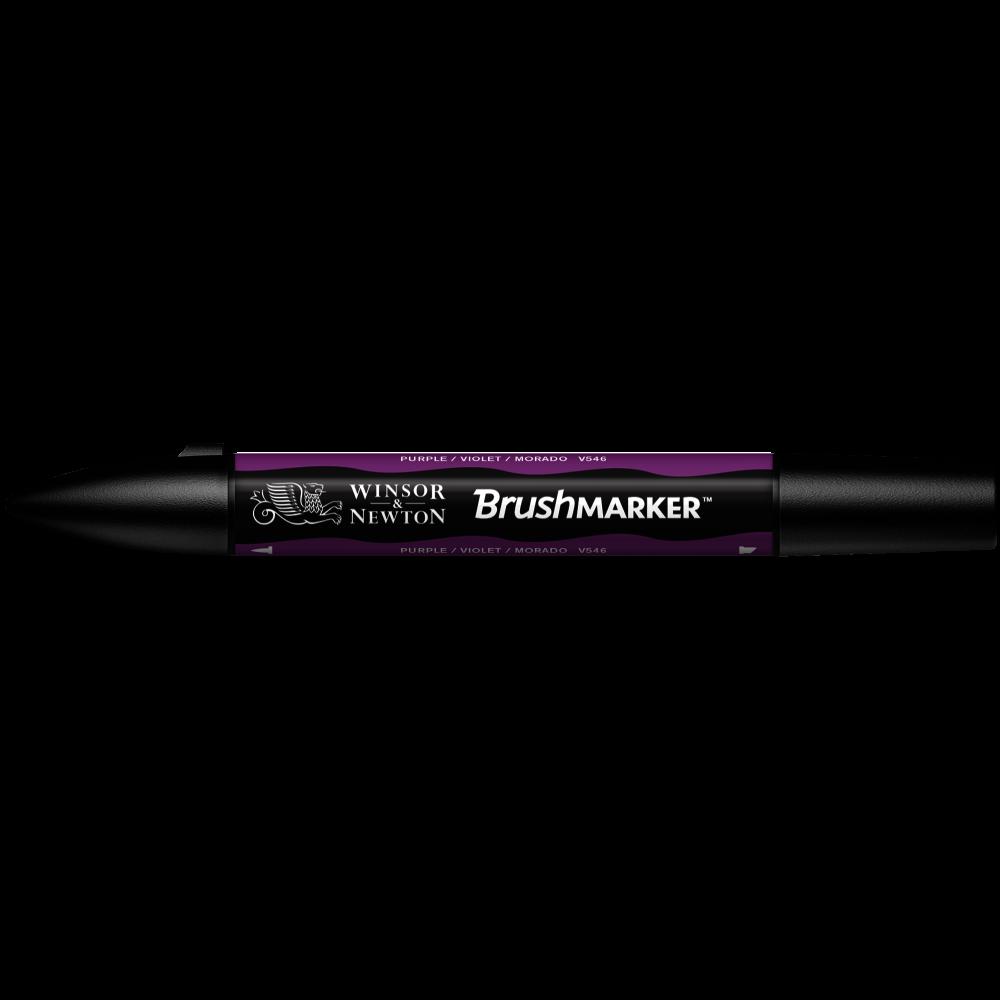 MARCADOR BRUSHMARKER W&N MORADO V546