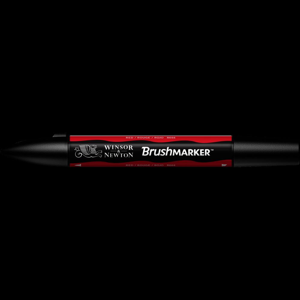 MARCADOR BRUSHMARKER W&N ROJO R666