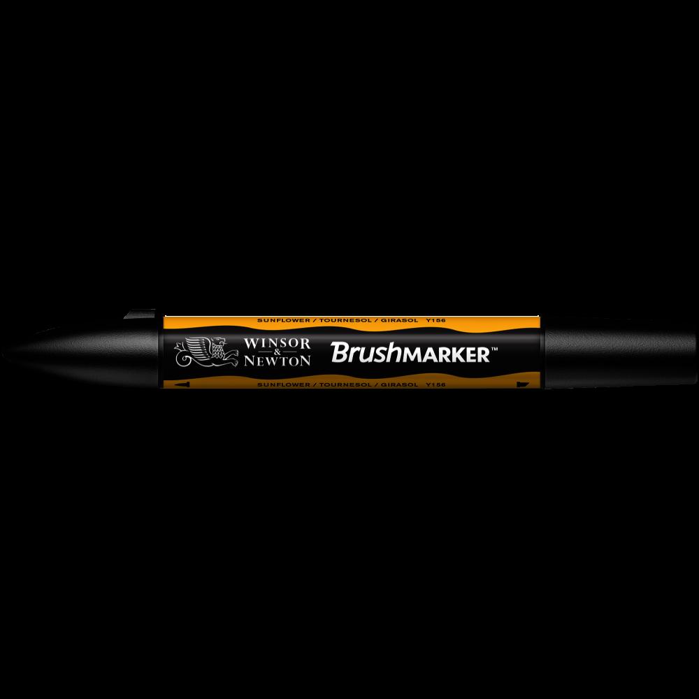 MARCADOR BRUSHMARKER W&N GIRASOL Y156