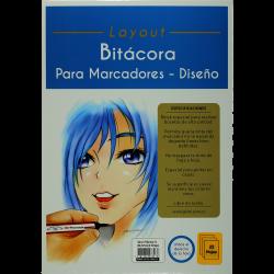 BITACORA P/MARCADORES A4(29.7X21CM) X25 HOJAS