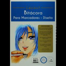 BITACORA P/MARCADORES A4(29.7X21CM) X50 HOJAS