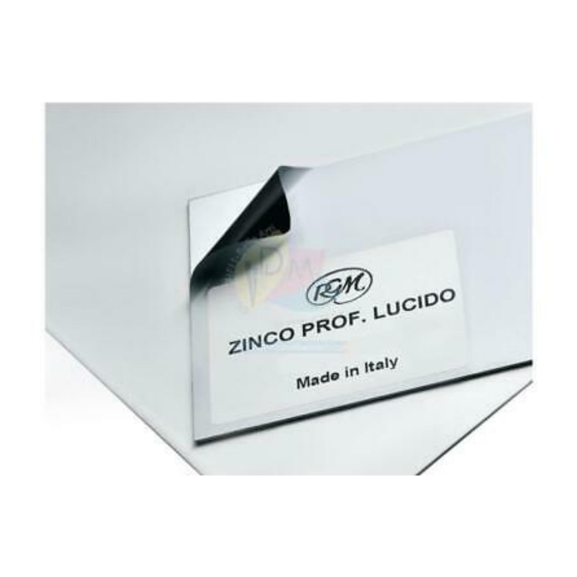 LÁMINA DE METAL ZINC 1/8 35X25 CM 1MM GROSOR